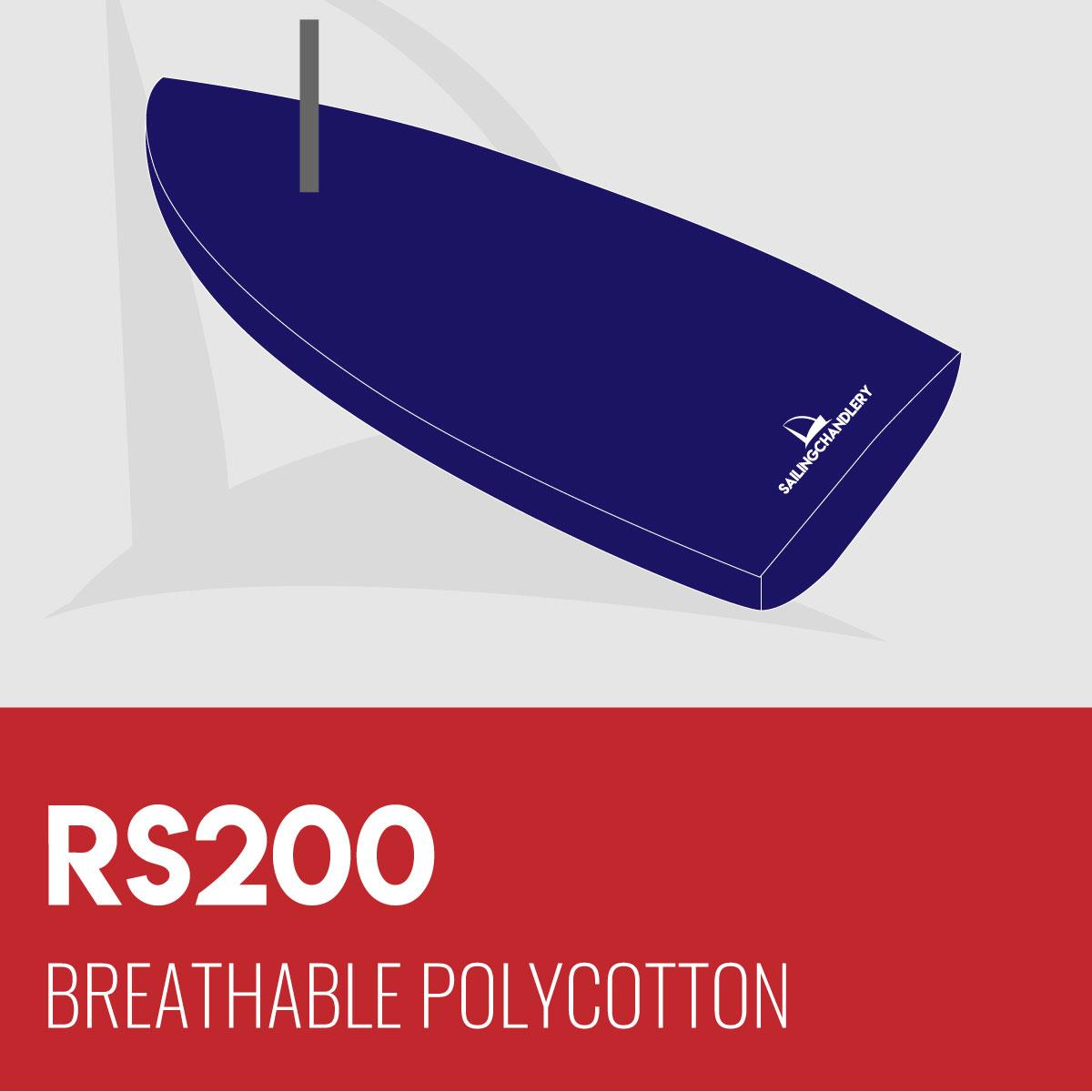 RS200 Boat Cover - Boom Up - Breathable Polycotton