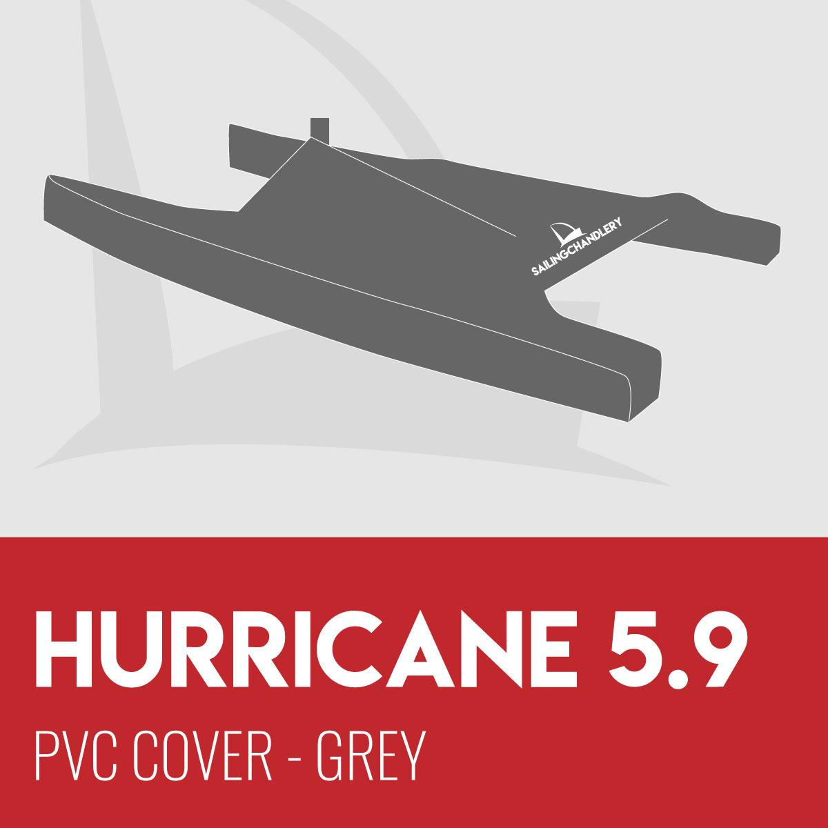 Hurricane 5.9 Boat Cover - PVC - Grey