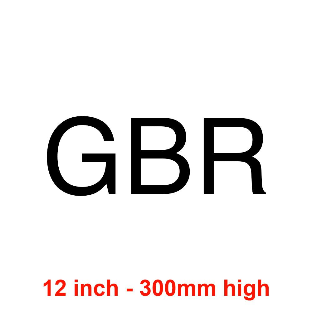 GBR - Black 300mm Sail Letters