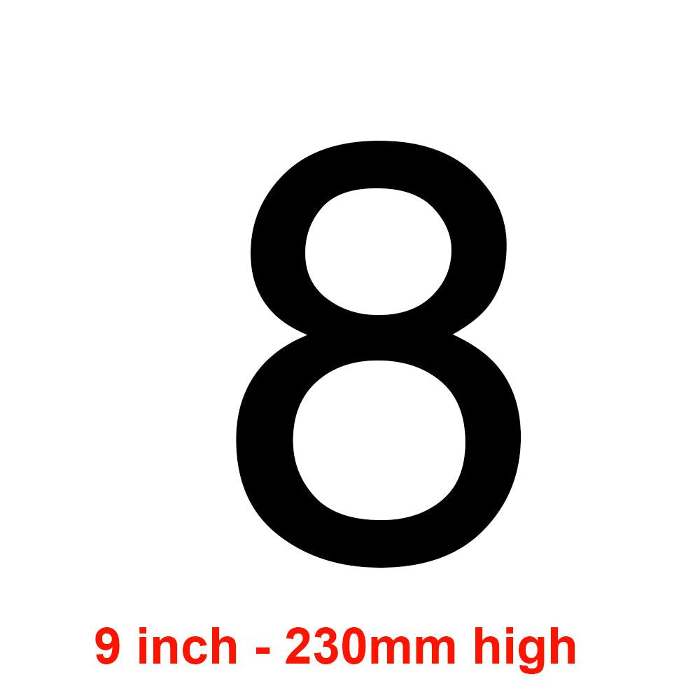 8 - Black 230mm Sail Number