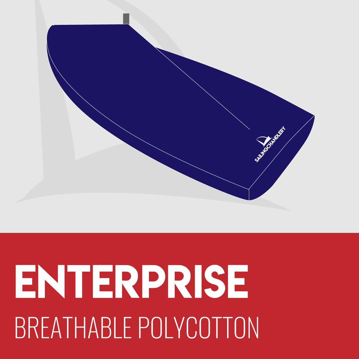 Enterprise Boat Cover - Boom Up - Breathable Polycotton