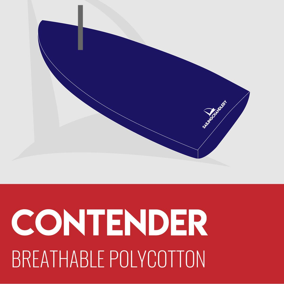 Contender Boat Cover - Mast Up Flat - Breathable Polycotton