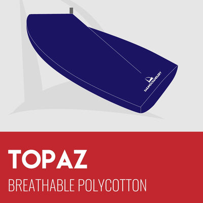 Topaz Boat Cover - Boom Up - Breathable Polycotton