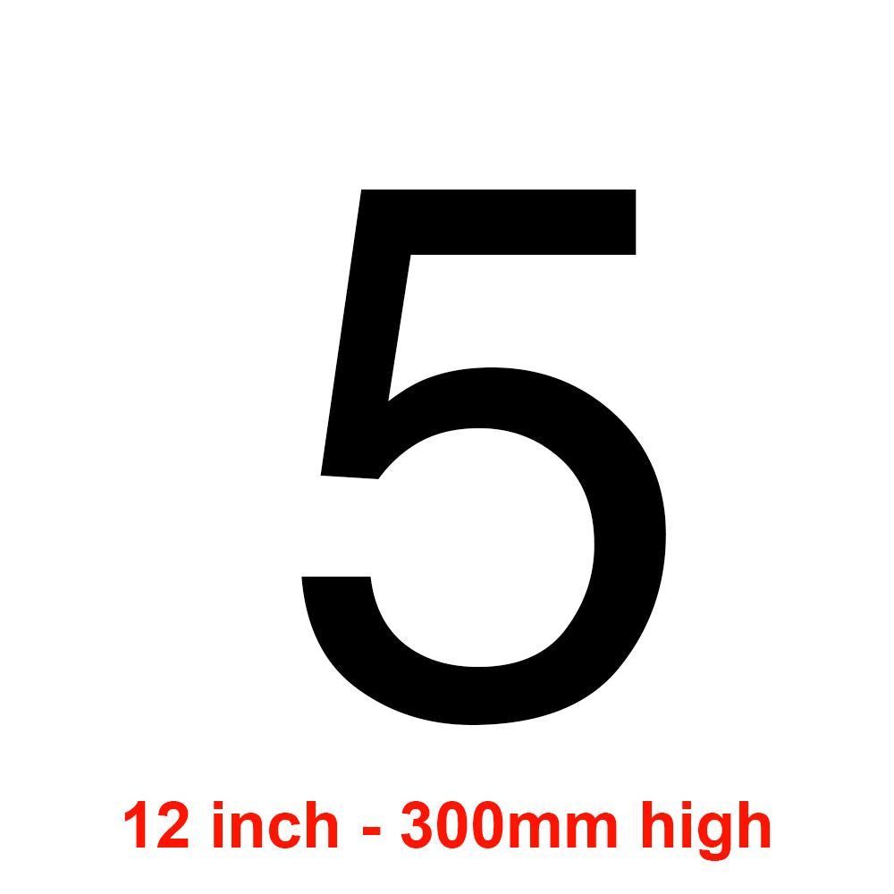 5 - Black 300mm Sail Number