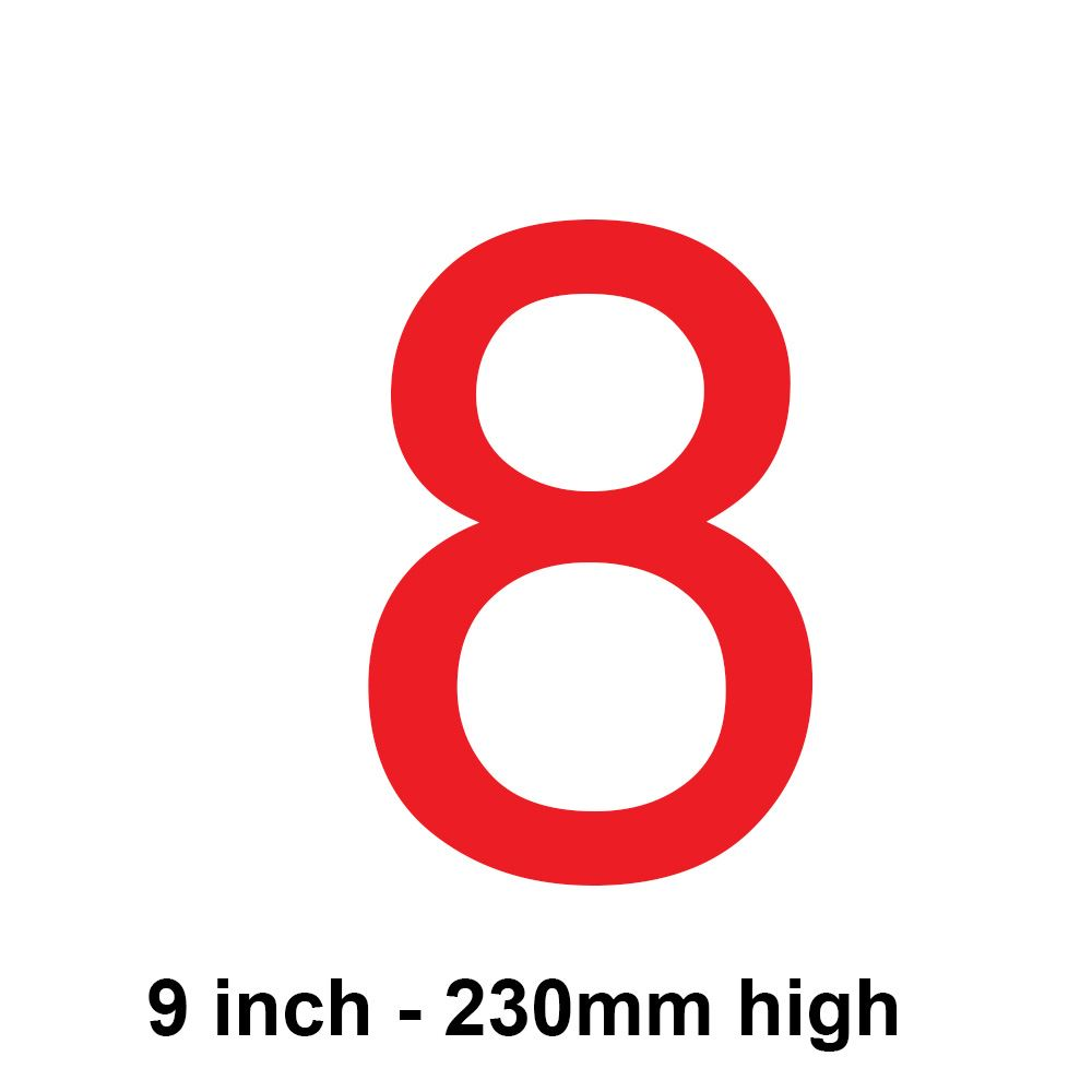 8 - Red 230mm Sail Number