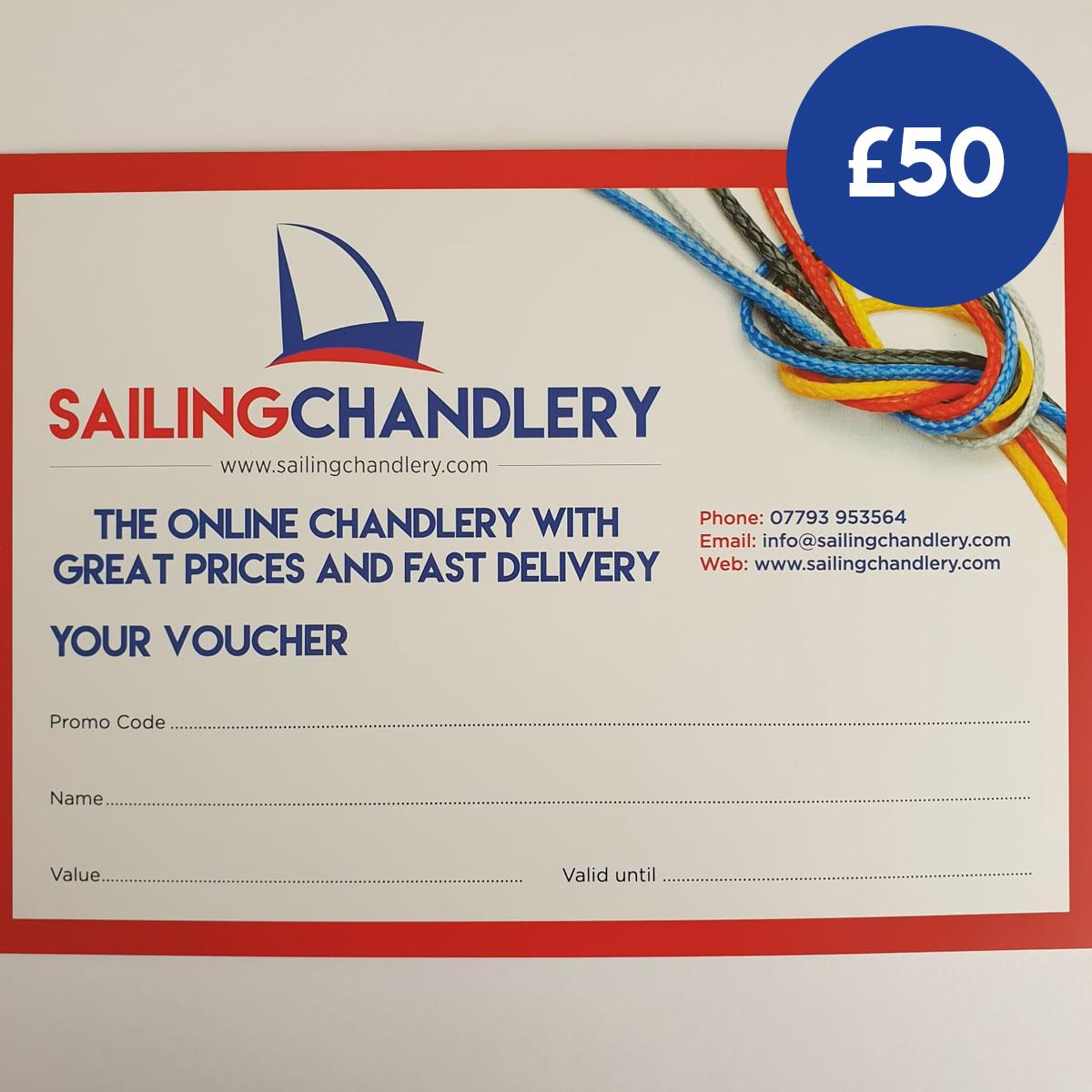 £50 Sailing Chandlery Sailing Gift Voucher