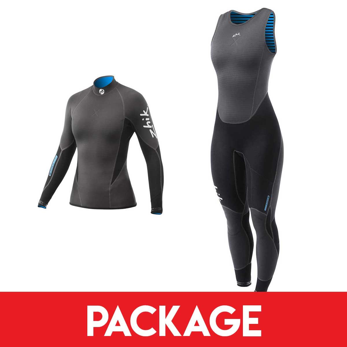 Womens Zhik Microfleece X Sailing Wetsuit Package