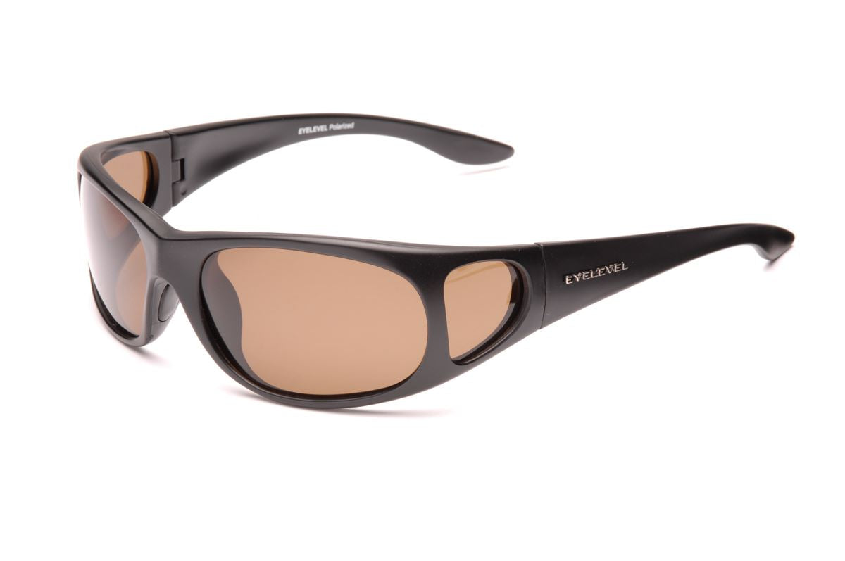 Stalker Sunglasses with Side Shield - Brown Lens