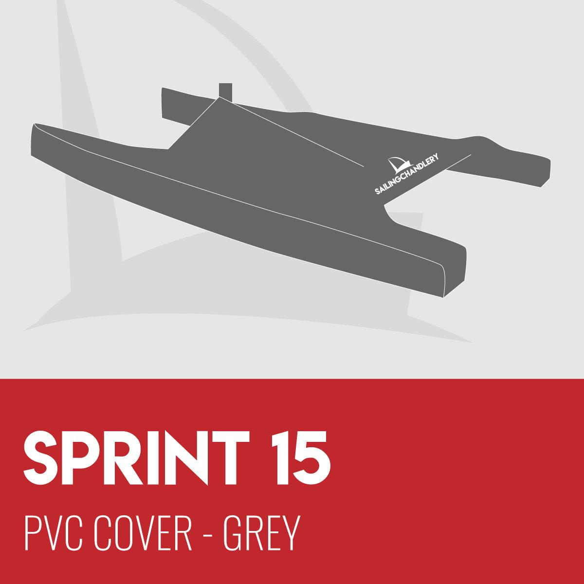 Sprint 15 Boat Cover - PVC - Grey
