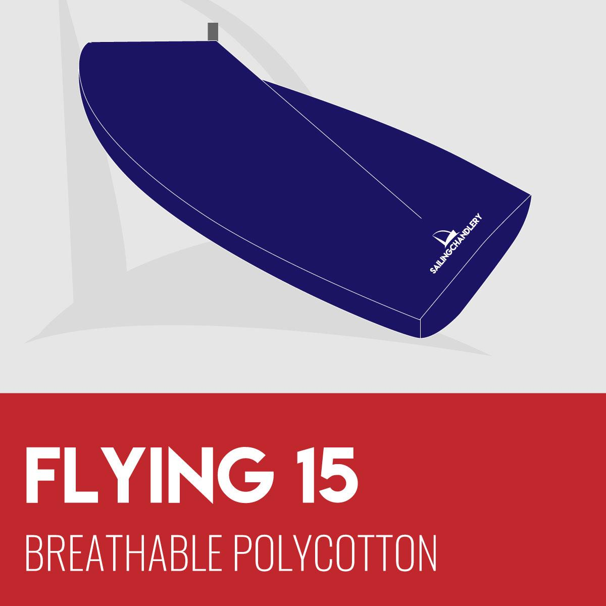 Flying 15 Boat Cover - Boom Up - Breathable Polycotton