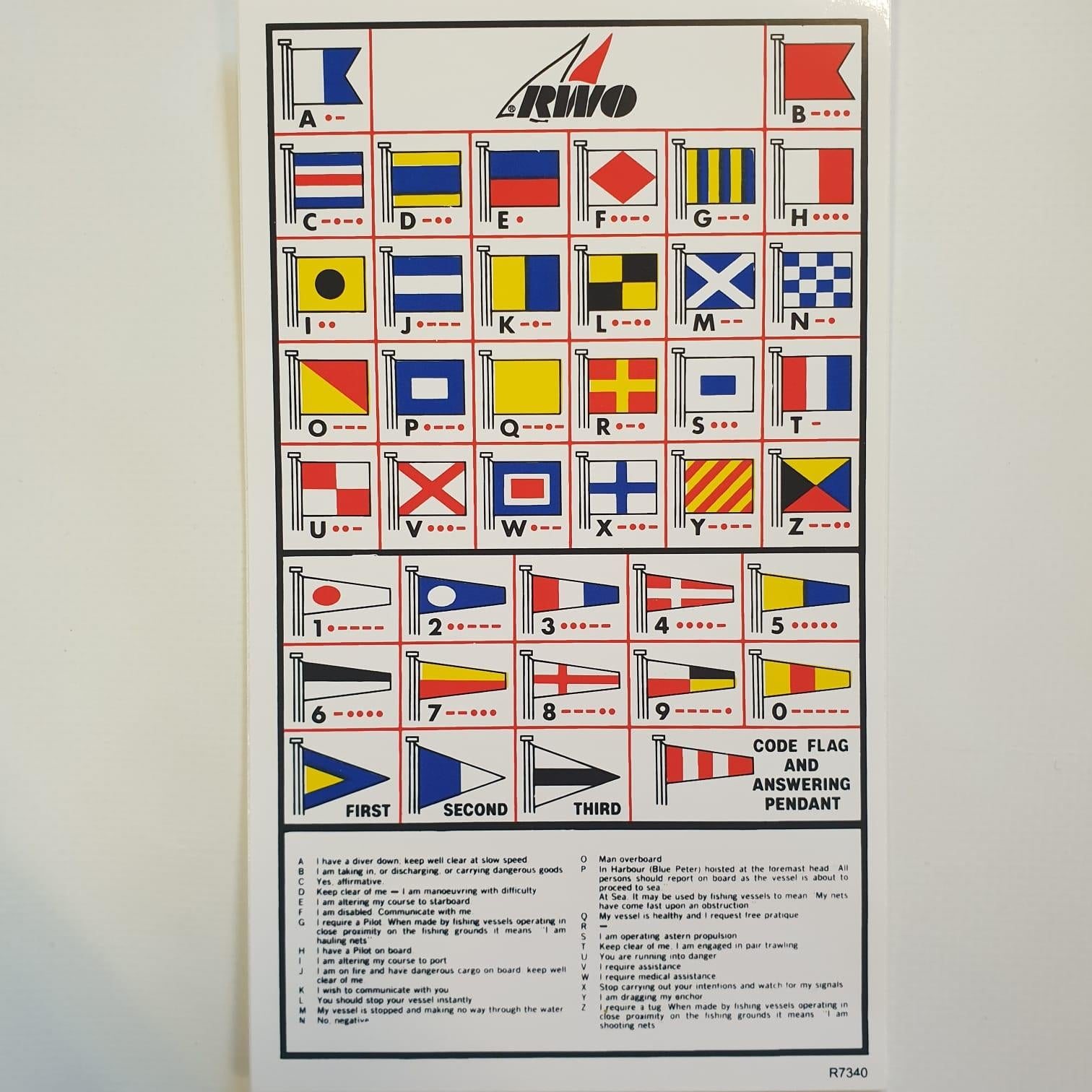 RWO Flag Sticker with Code Flags