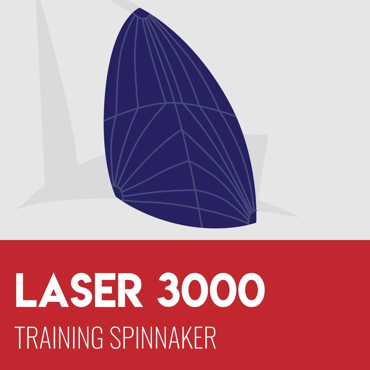 Laser 3000 Training Spinnaker