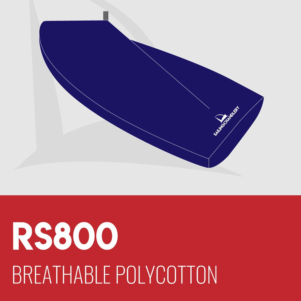 RS800 Boat Cover - Boom Up - Breathable Polycotton
