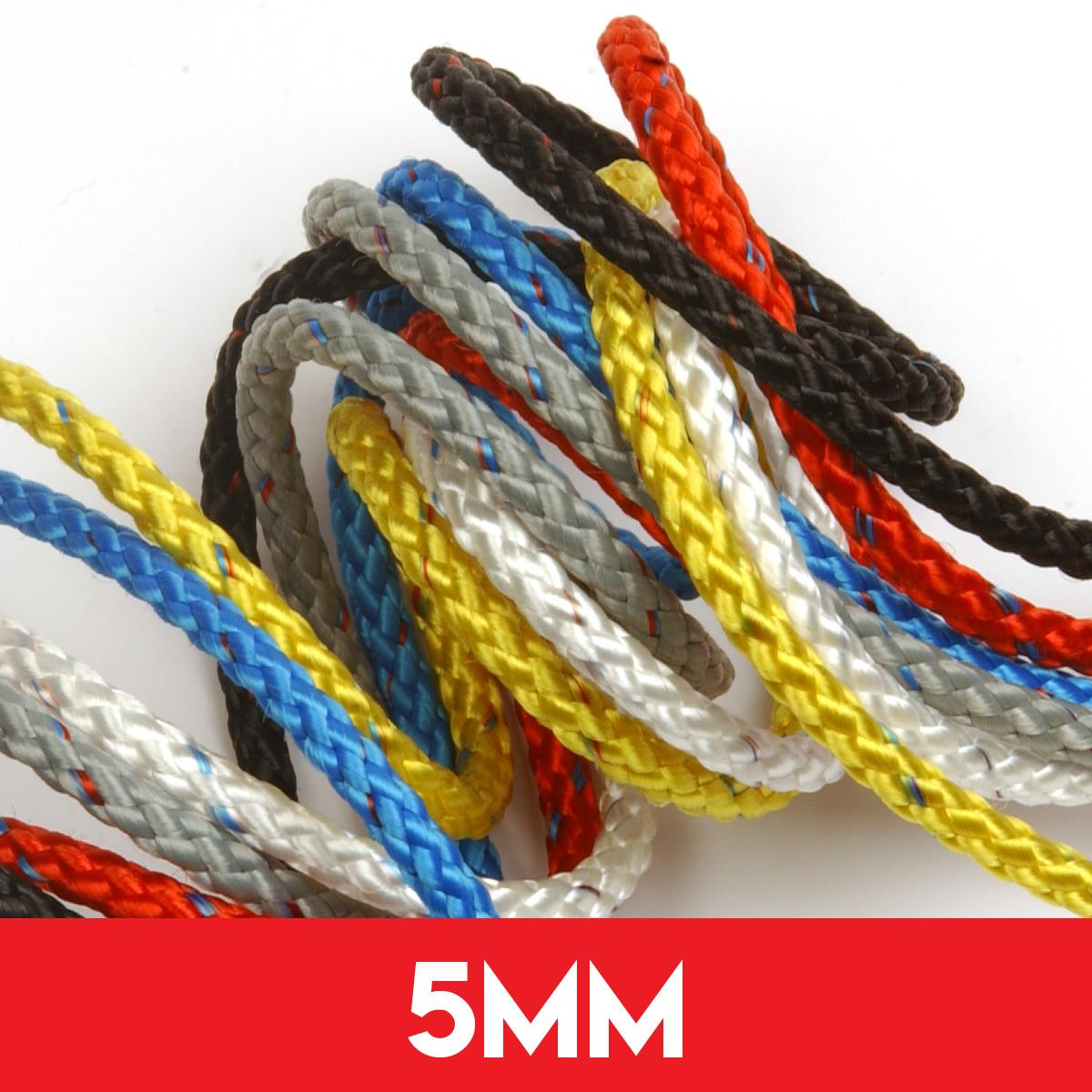 5mm 8 Plait Pre-Stretched Polyester Rope