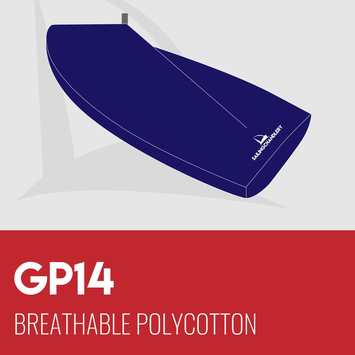 GP14 Boat Cover - Boom Up - Breathable Polycotton