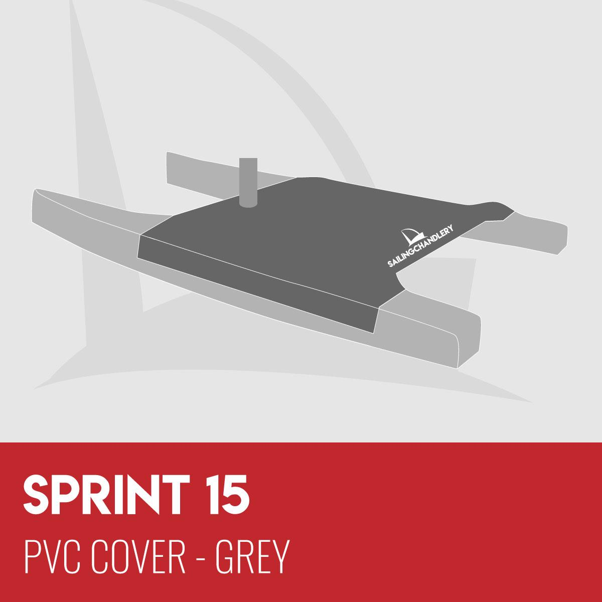 Sprint 15 Trampoline Cover - PVC Grey