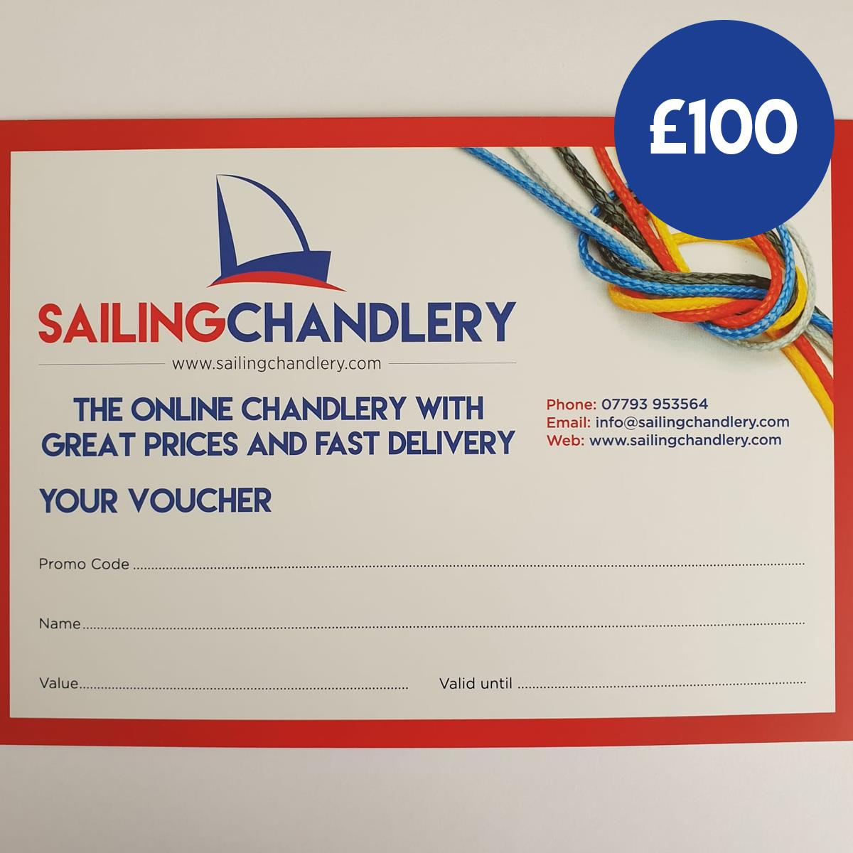 £100 Sailing Chandlery Sailing Gift Voucher