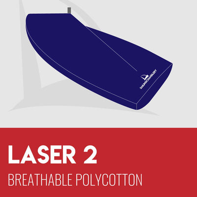 Laser 2 Boat Cover - Boom Up - Breathable Polycotton
