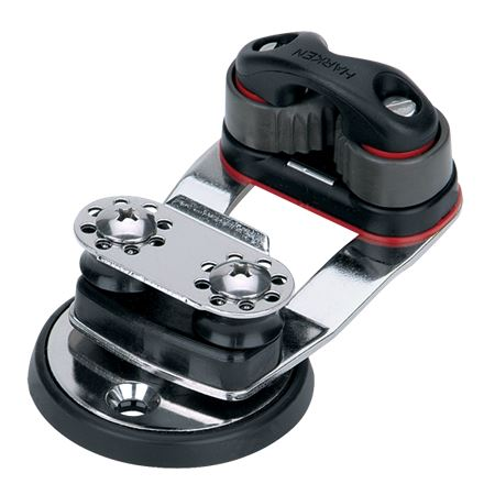 Harken Micro Cam Base with Swivel and 16mm Sheaves