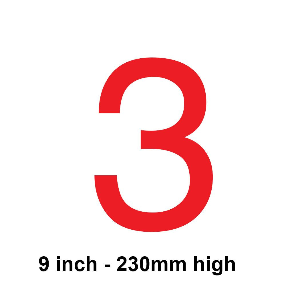 3 - Red 230mm Sail Number