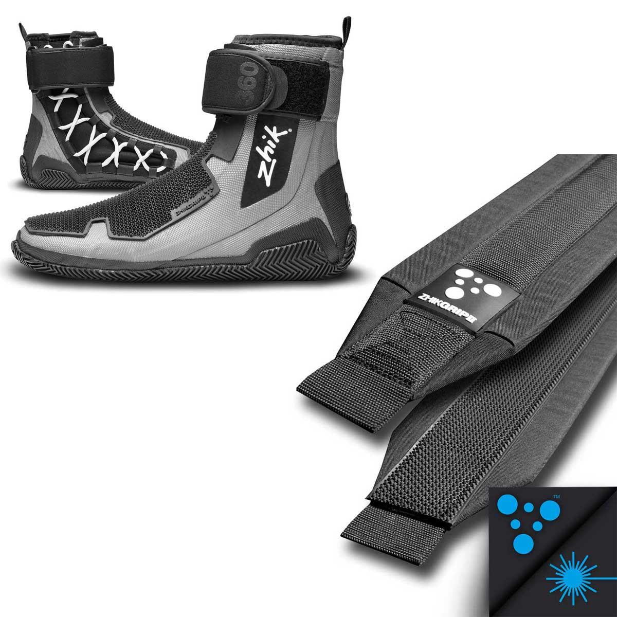 Zhik 360 Sailing Boots with Laser Grip II Hiking Strap