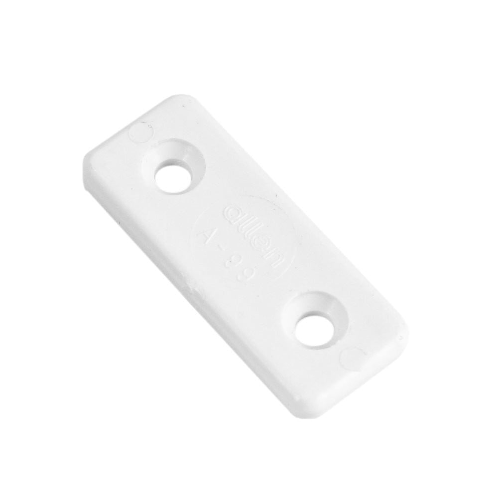 Allen Brothers Toe Strap Fixing Plate - White
