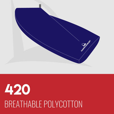420 Boat Cover - Boom Up - Breathable Polycotton