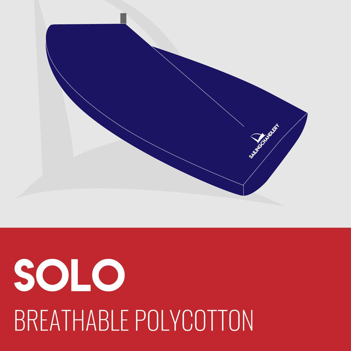 Solo Boat Cover - Boom Up - Breathable Polycotton