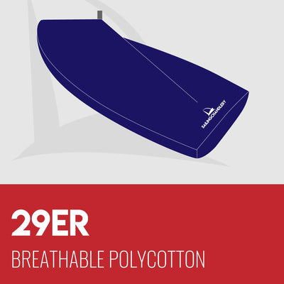 29er Boat Cover - Boom Up - Breathable Polycotton