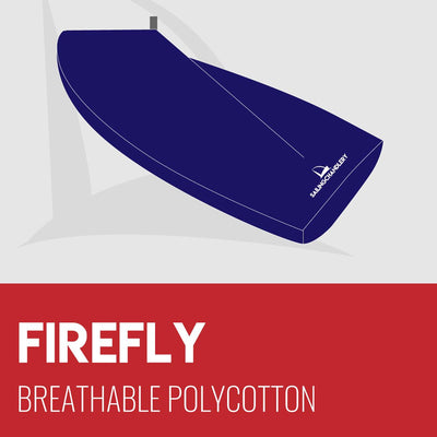 Firefly Boat Cover - Boom Up - Breathable Polycotton