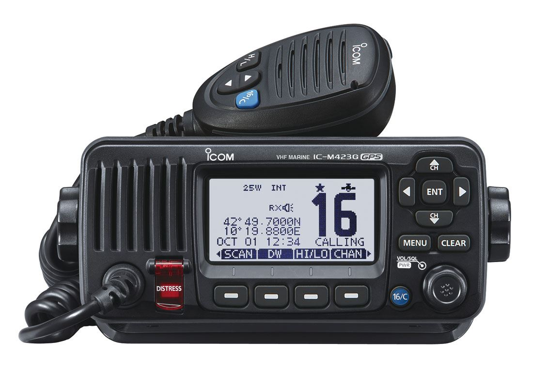 iCom IC-M423G Compact VHF/DSC Radio with GPS