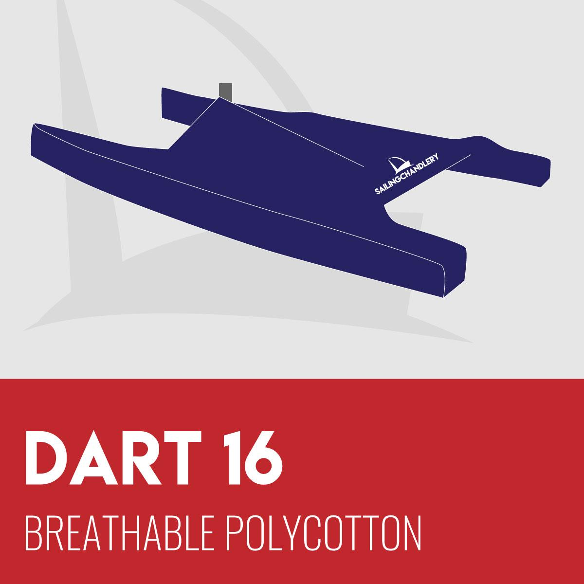 Dart 16 Boat Cover - Breathable PVC Polycotton