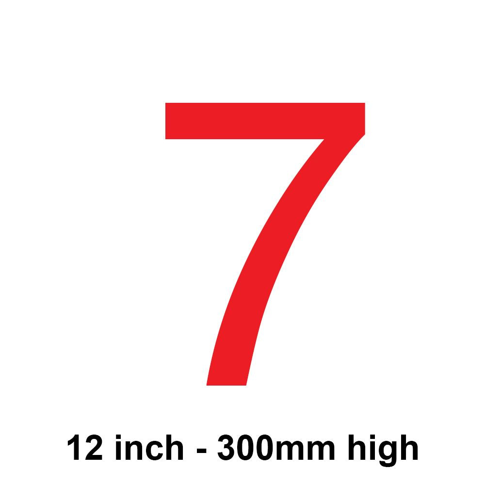7 - Red 300mm Sail Number