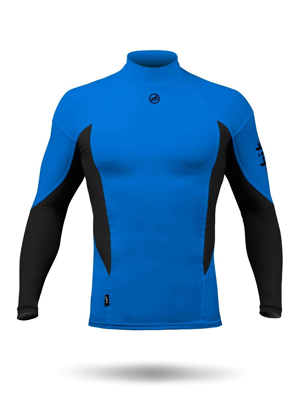 Mens Zhik Long Sleeve Spandex Rash Vest Top - Cyan