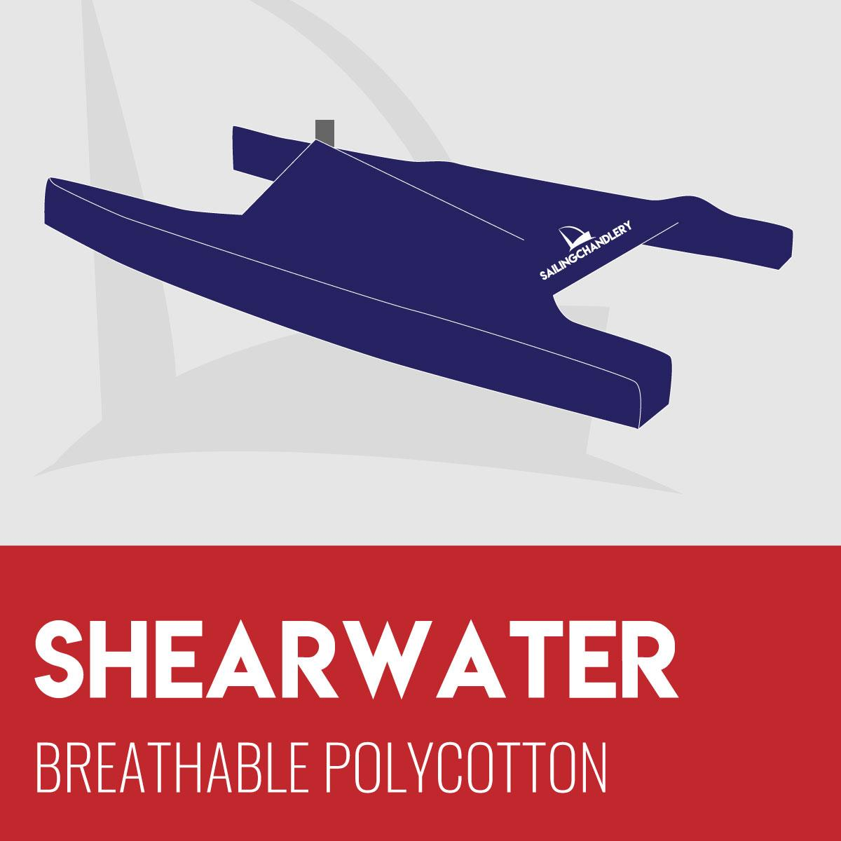 Shearwater Boat Cover - Breathable PVC Polycotton