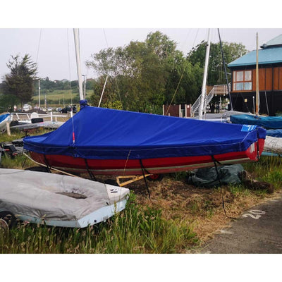 Wayfarer Boat Cover - Boom Up - Breathable Polycotton