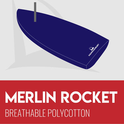 Merlin Rocket Boat Cover - Flat - Breathable Polycotton