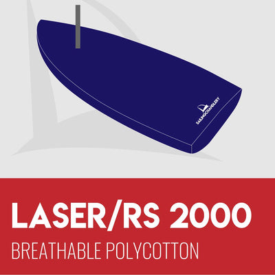 Laser 2000 Flat Boat Cover - Breathable Polycotton
