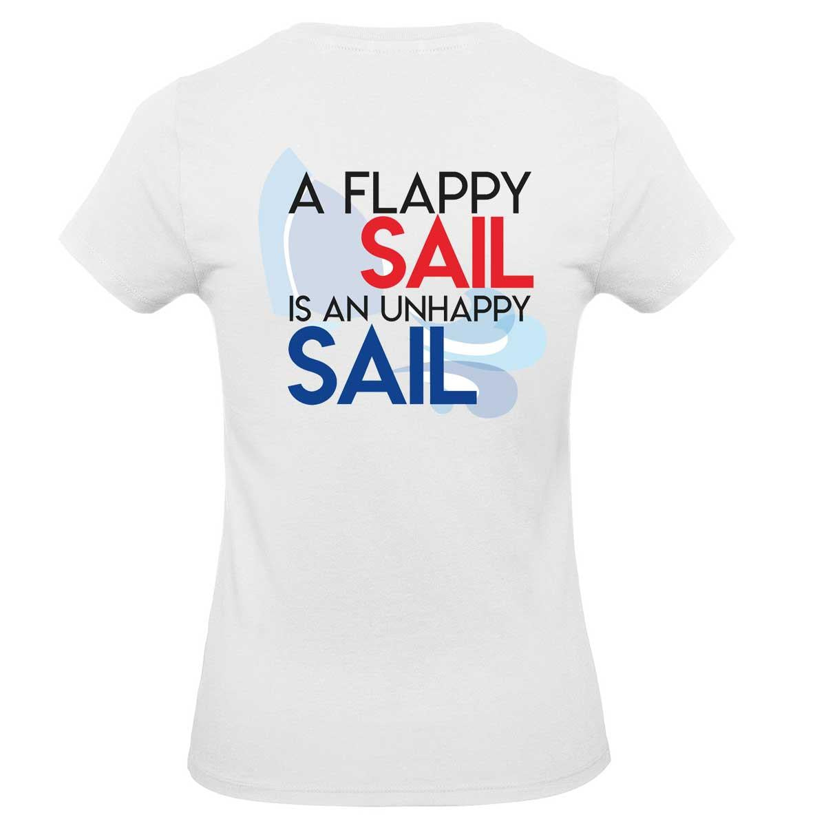 Womens T-Shirt - A Flappy Sail Is An Unhappy Sail