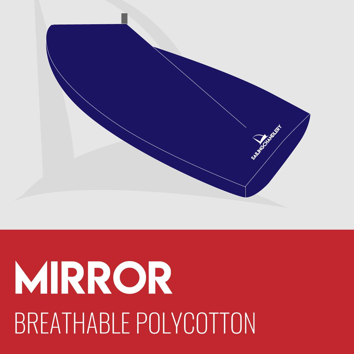 Mirror Boat Cover - Boom Up - Breathable Polycotton