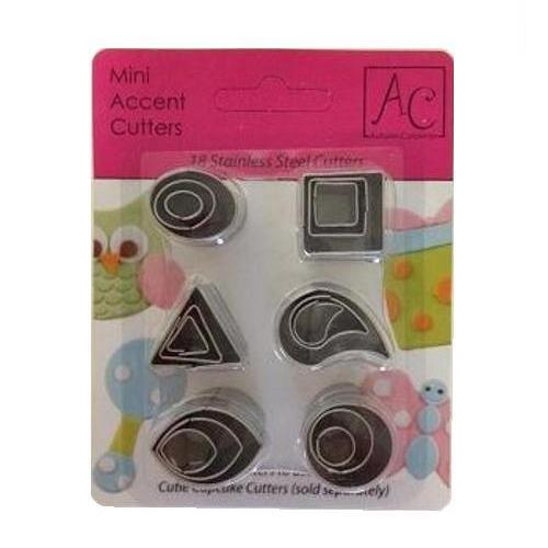 Cutie Cupcake Cutter Set - Mini Accent Cutters
