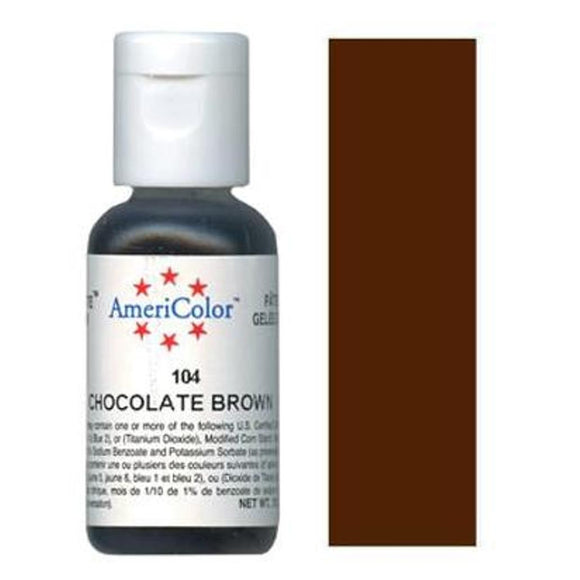 AmeriColor Soft Gel Paste Chocolate Brown 21g (0.75 oz)