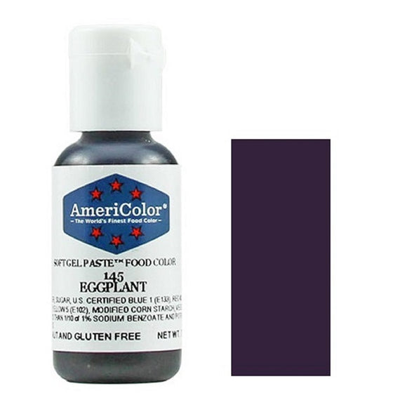 AmeriColor Soft Gel Paste Eggplant 21g (0.75 oz)