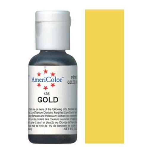AmeriColor Soft Gel Paste Gold 21g (0.75 oz)