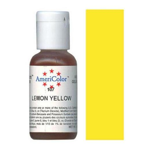 AmeriColor Soft Gel Paste Lemon Yellow 21g (0.75 oz)