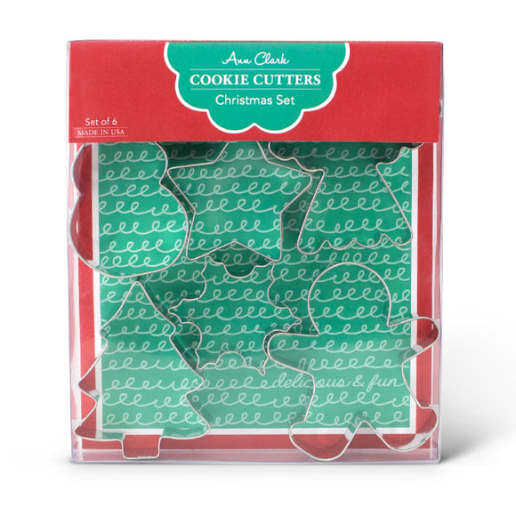 Ann Clark Christmas cookie cutter boxed set (6 piece)