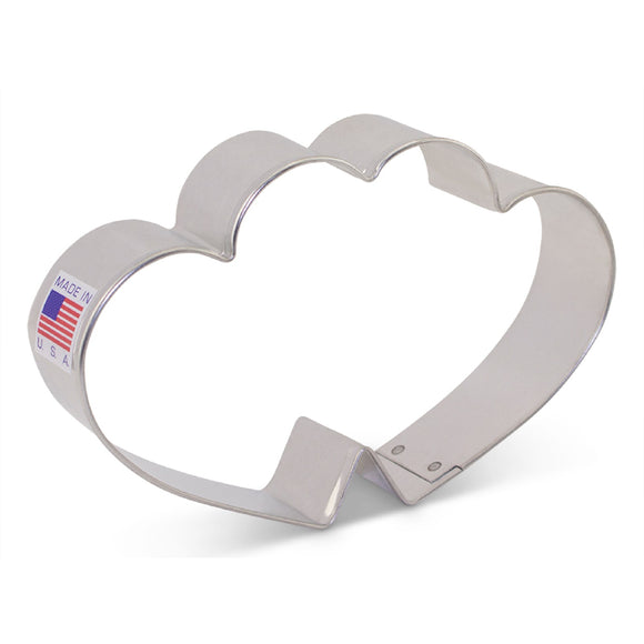 Ann Clark Double Heart cookie cutter 11cm by Flour Box Bakery