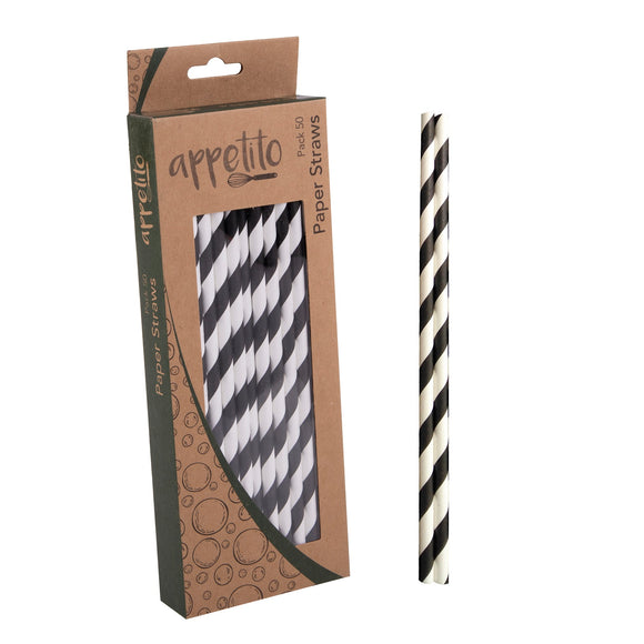 Appetitio Paper Straws 50 pack