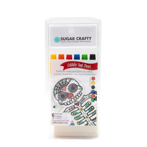 Sugar Crafty Edible Ink Markers (6 colours) - Set 1