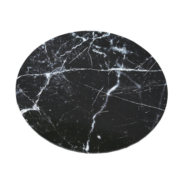 Black Marble Effect Round Cake Board 35cm (14 inch)